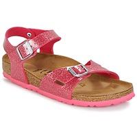Zapatos Niños Sandalias Birkenstock RIO Rosa / Brillantina