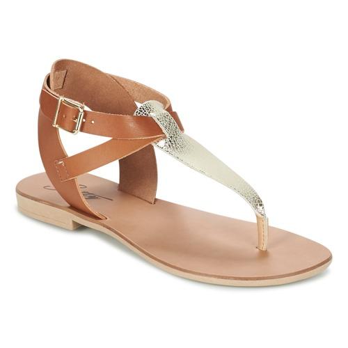 Zapatos Mujer Sandalias Betty London VITAMO Camel / Oro