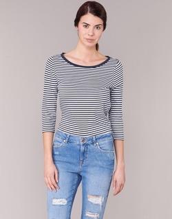 textil Mujer Camisetas manga larga Vero Moda MARLEY Marino / Blanco