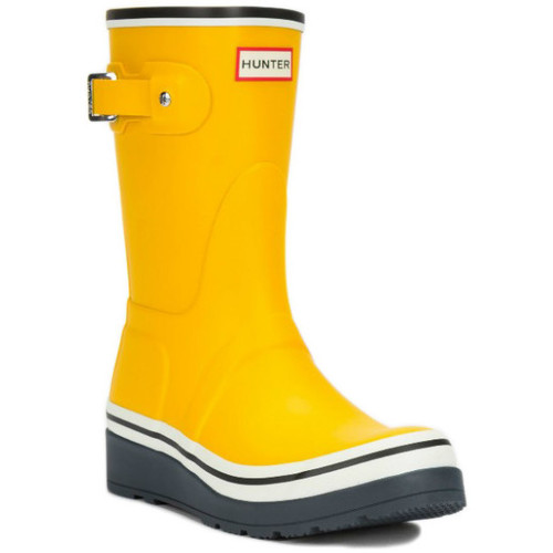 Los últimos zapatos de descuento para hombres y mujeres Zapatos especiales Hunter ORIGINAL LOW WEDGE BUOY Amarillo - Zapatos Botas de agua Mujer