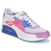 Zapatos Mujer Zapatillas bajas Nike AIR MAX 90 FLYKNIT ULTRA 2.0 W Blanco / Azul / Rosa