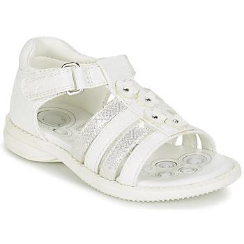 Zapatos Niña Sandalias Chicco CAROTA Blanco / Plata