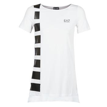 textil Mujer túnicas Emporio Armani EA7 TRAIN MASTER Blanco / Negro