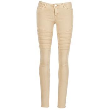 textil Mujer pantalones con 5 bolsillos Noisy May EVE Beige