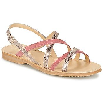 Zapatos Niña Sandalias Citrouille et Compagnie GENTOU Rosa / Plata