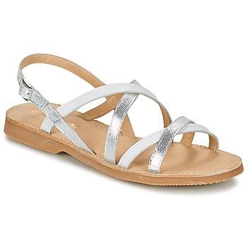 Zapatos Niña Sandalias Citrouille et Compagnie GENTOU Blanco / Plata