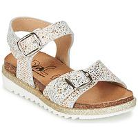 Zapatos Niña Sandalias Citrouille et Compagnie GUAFRETTE Oro / Blanco