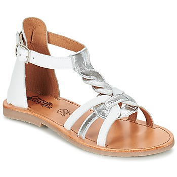 Zapatos Niña Sandalias Citrouille et Compagnie GITANOLO Blanco / Plata