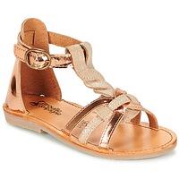 Zapatos Niña Sandalias Citrouille et Compagnie GITANOLO Beige / Cobre