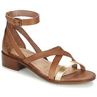 Zapatos Mujer Sandalias Casual Attitude GILDAS Camel / DORADO