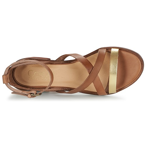 Attitude Zapatos Casual Coutil Sandalias Mujer CamelDorado PkXZiu
