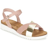 Zapatos Mujer Sandalias Casual Attitude GIFA Rosa / Dorado