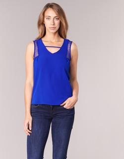 textil Mujer camisetas sin mangas Naf Naf OPIPA Azul