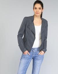 textil Mujer Chaquetas de cuero / Polipiel Only AVA Marino