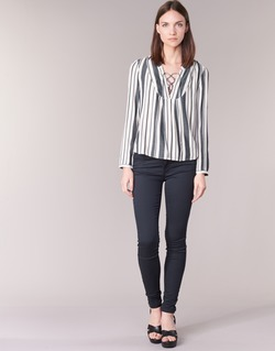textil Mujer pantalones con 5 bolsillos Only ELENA Marino
