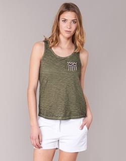 textil Mujer camisetas sin mangas Only VIOLA Kaki