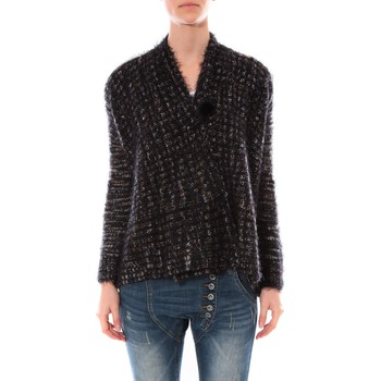 textil Mujer Jerséis De Fil En Aiguille Gilet  Maella Noir FT15 Negro