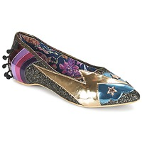Zapatos Mujer Bailarinas-manoletinas Irregular Choice GROUND CONTROL Negro / Oro