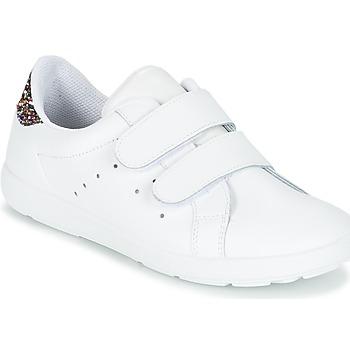 Zapatos Niña Zapatillas bajas Citrouille et Compagnie GRANOU Blanco / Brillantinas