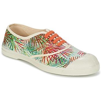Zapatos Mujer Zapatillas bajas Bensimon TENNIS FEUILLES EXOTIQUES CRUDO / Naranja / Verde