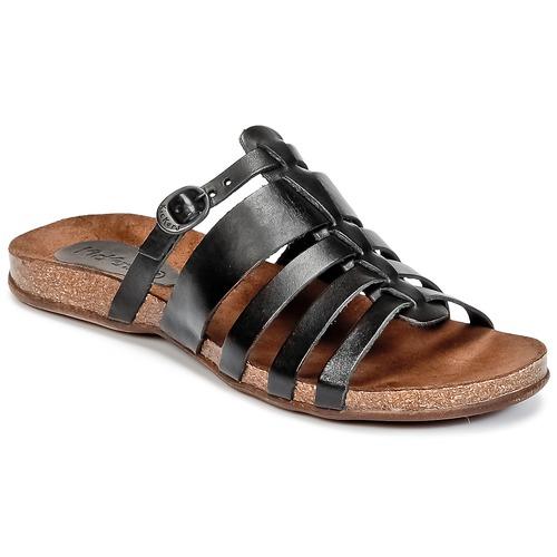 Zapatos Mujer Sandalias Kickers ANAELLE Negro
