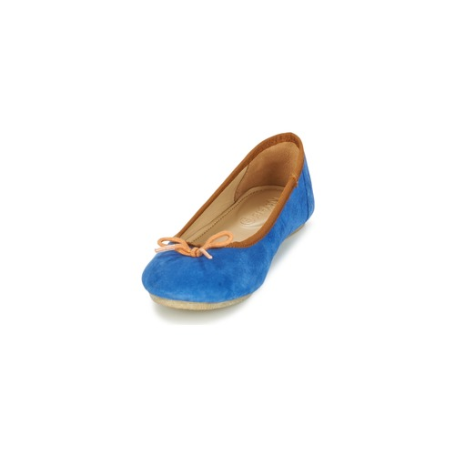 Mujer Bailarinas Kickers manoletinas AzulNaranja Zapatos Baie f76bgy