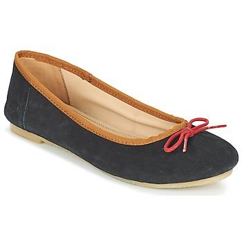 Zapatos Mujer Bailarinas-manoletinas Kickers BAIE Negro / Rojo