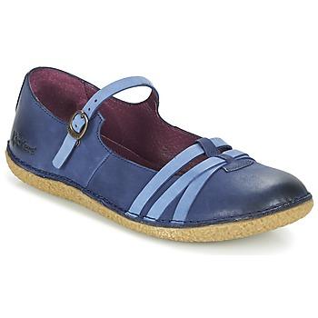 Zapatos Mujer Bailarinas-manoletinas Kickers HIBOU Marino