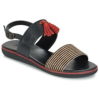 Zapatos Mujer Sandalias Kickers HYRO Negro / Rojo