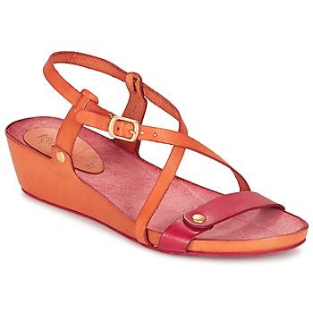 Zapatos Mujer Sandalias Kickers TASTE Naranja / Rojo