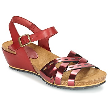 Zapatos Mujer Sandalias Kickers TOKANNE Rojo / Metalizado