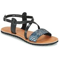 Zapatos Mujer Sandalias Kickers VIPA Negro
