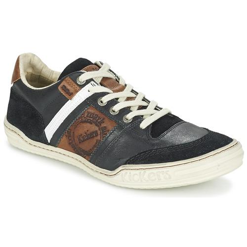 Zapatos Hombre Zapatillas bajas Kickers JEXPLORE Negro