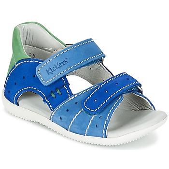 Zapatos Niño Sandalias Kickers BOPING Azul / Verde