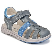Zapatos Niño Sandalias Kickers PLATINIUM Azul / Azul