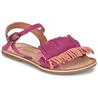 Zapatos Niña Sandalias Kickers DIXFROUFROU KID Fucsia / Coral