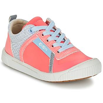 Zapatos Niña Zapatillas bajas Kickers ZIGUY Coral / Azul