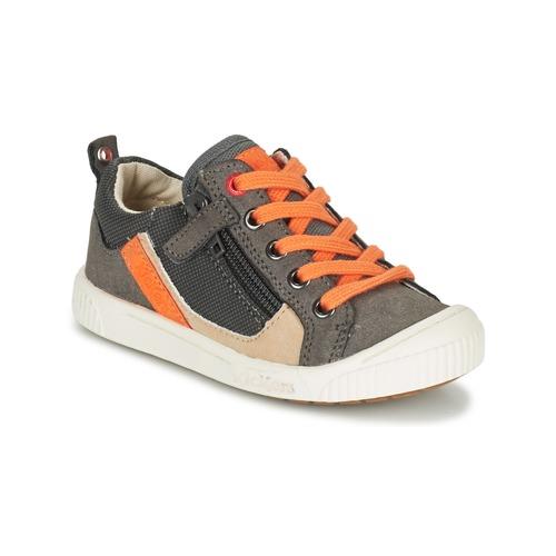 Zapatos Niño Zapatillas bajas Kickers ZIGZAGUER Gris / Naranja