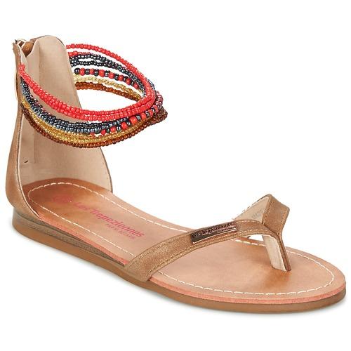 Zapatos Niña Sandalias Les Tropéziennes par M Belarbi GINKGO Marrón