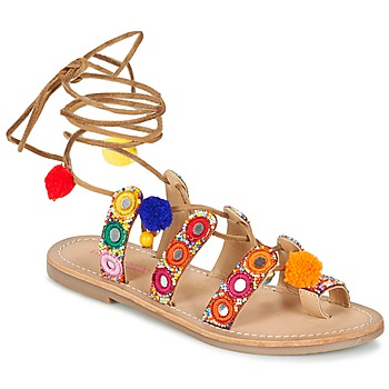 Zapatos Mujer Sandalias Les Tropéziennes par M Belarbi OREA Marrón / Multicolor