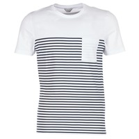 textil Hombre camisetas manga corta Jack & Jones APRIL CORE Blanco / Marino