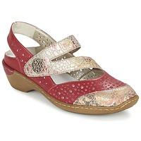 Zapatos Mujer Sandalias Rieker KOLIPEDI Rojo / Oro