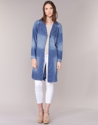 textil Mujer trench Cream DENIM TRENCHCOAT DENIM