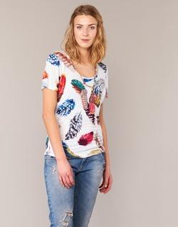 textil Mujer camisetas manga corta Derhy JACQUOT Blanco / Multicolor
