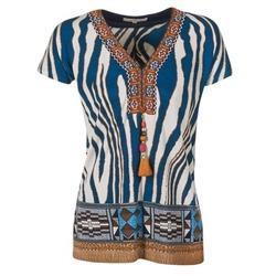 textil Mujer camisetas manga corta Derhy JAQUERIE Azul