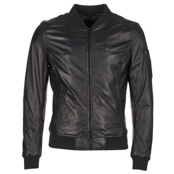 textil Hombre Chaquetas de cuero / Polipiel Oakwood 62354 Negro
