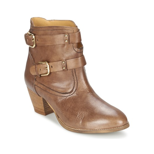 Zapatos Mujer Botines Casual Attitude SANOU Marrón