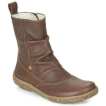 Zapatos Mujer Botas de caña baja El Naturalista NIDO TRAMBU Marrón