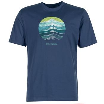 textil Hombre camisetas manga corta Columbia CSC MOUNTAIN SUNSET Azul