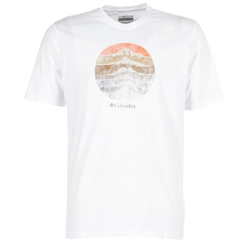 textil Hombre camisetas manga corta Columbia CSC MOUNTAIN SUNSET Blanco
